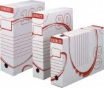Esselte 128701-200mm archiváló doboz fehér karton