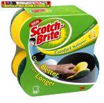 Scotch-Brite piskóta alakú kézkímélő szivacs 2 db/csg (mosogatószivacs)