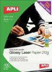 Apli Premium Laser  lézer fotópapír, fényes, kétoldalas, A4, 210gr 100ív/cs (11833)