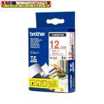 Brother TZ szalagok, TZ-232 fehér/piros 12mm (TZe-232)
