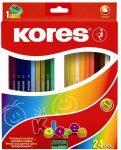 Kores Triangular színes ceruza 24db-os