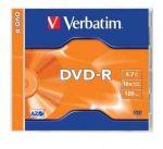 Verbatim DVD-R 4,7 GB, 16x, normál tokban (AZO)
