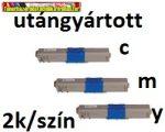 OKI C310,C330,C510,C530,MC351,MC361,MC561,MC562 utángyártott toner  COLOR  2K /SZÍN