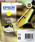 Epson 16  T1624 yellow eredeti tintapatron C13 T16244010 3,1ml Lejárat: 2021.08
