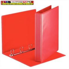 Esselte 49713 piros panorámás gyűrűskönyv, 30mm D gyűrű, 50 mm-es gerinccel - 4 gyűrűs