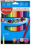 Maped COLOR PEPS színes ceruza, 18 db/doboz