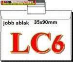 LC/6 öntapadós boriték jobb ablak 35x90mm 1000 db/dob 114x162mm (LC6)