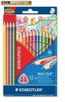 Színes ceruza készlet, háromszögletű, STAEDTLER Noris Club, 12+4 szín -127NC12P-