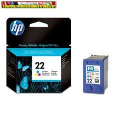 HP C9352A No.22 színes eredeti   (Deskjet 3910 / 3915 /3920 / 3930 / 3940 / D1360 / D1460 / D2330 / D2360 / D2460 / F370 / F380 / F2180 / F2280 / F4180 és PSC 1402 / 1410 / 1415 / 1417 )