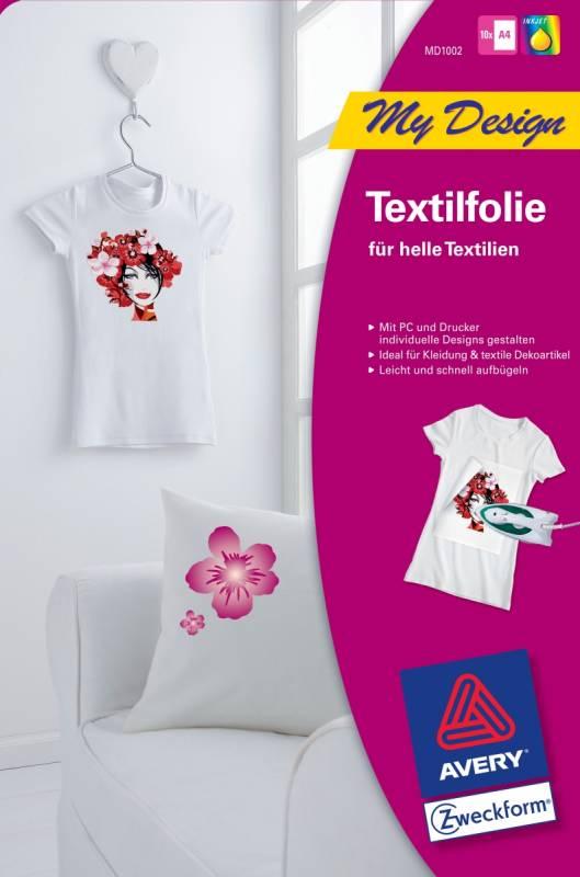 04ad1d0375 Avery MD1002 T-shirt pólóra vasalható fólia 10ív A/4 - világos pólóra-