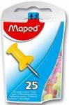 Térképtű Maped Színes 10 mm, 25 db/doboz