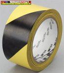 Ipari jelzőszalag,gumi ragasztószalag  50mm x 33m, 3M, sárga-fekete