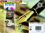 Epson 16  T1626 multipack eredeti ( T16 black+cyan+yellow+magenta) eredeti C13 T16264010 14,7ml(5,4ml+3*3,1ml)l