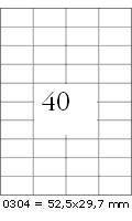 Rayfilm Univerzális címke (etikett) 52,5 x 29,7 mm 40címke/lap 100lap/dob (R0ECO 0304A)