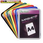 Mágneses tasak, mágneses háttal, A4, TARIFOLD Magneto Solo,sárga