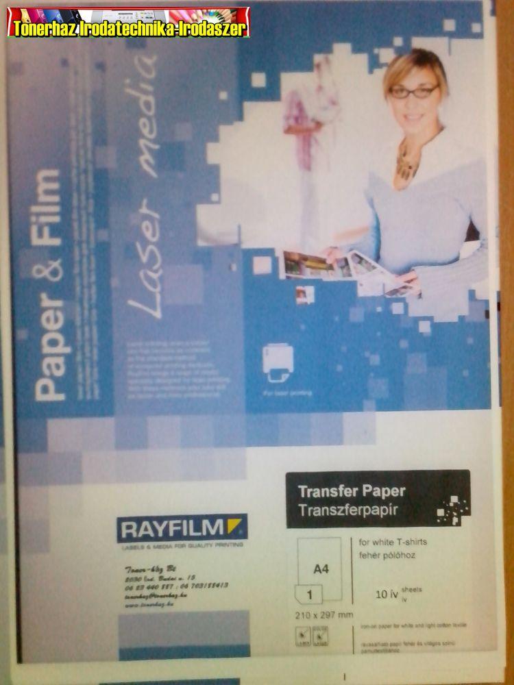 eab034711b Rayfilm pólóra vasalható fólia lézernyomtatóhoz világos pólóra 10ív/cs (  R02071123B)