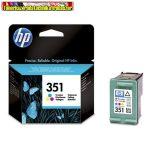 Hp 351 CB337EE Tri-colour eredeti (színes tintapatron Officejet j5780,j6410, Photosmart C4280,C5280,Deskjet D4260 (3,5ml/165 old.)