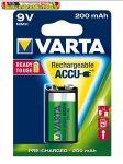 VARTA Power Accu Tölthető elem, 9V, 1x200 mAh, előtöltött,