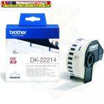 Brother DK-22214 folytonos szalagcímke 12mm x 30,48m öntapadós White