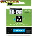 DYMO D1 (S0720530) 45013- 12mmx7m FEKETE betű/FEHÉR háttér