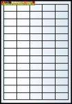 Rayfilm poliészter címke átlátszó (lézernyomtatóhoz,másológéphez ) 65címke/lap 38x21,2 mm 10lap/dob