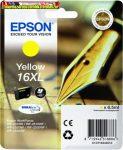 Epson 16XL  T1634 yellow eredeti tintapatron C13 T16344010 6,5ml