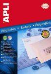 Apli Etikett, 48,5x25,4 mm, poliészter, kerekített sarkú, átlátszó, 44címke/lap 10la/cs 440 etikett/csomag LCA10050