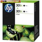HP D8J45A DUOPACK (2DB CH563EE No 301XL eredeti fekete tintapatron DJ 1050, 2050 nyomtatókhoz) (2*480 old.)