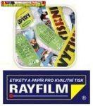 Rayfilm Öntapadós,ezüst, matt polieszter fólia lézernyomtatóhoz 1címke/lap 10lap/dob  R05551123F