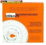 Tachográf 100km/h napi (100db) napi beosztású, fehér