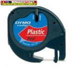 DYMO Letratag Feliratozógép szalag, 12 mm x 4 m, PIROS S0721580/59424