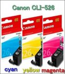 Canon CLI-526 C,M,Y  eredeti tintapatronok (CLI526)