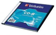 Verbatim CD-R 700 MB, 80min, 52x, vékony(slim) tokban (DataLife)