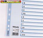 ESSELTE Mylar Regiszter, laminált karton, A4, A-Z, 100166
