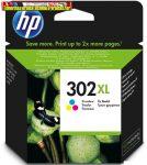 HP 302xl F6U67AE eredeti szines patron 330old(5%)