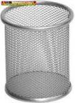 Tolltartó pohár ezüst fémhálós (írószertartó)