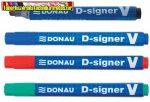 Donau D-signer V alkoholos marker, 1-4 mm, vágott, 4 színben