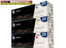 Eredeti Hp CB541A,CB542A,CB543A (125A) toner color (festékkazetták Color Laserjet CP1215 / CP1515 / 1518 / CM1312 nyomtatókhoz (1400 old./szín)