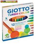 Giotto Turbo Color 12-es filctoll (rostiron)