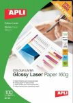 Apli Premium Laser  lézer fotópapír, fényes, kétoldalas, A4, 160gr 100ív/cs(11817)