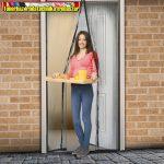 Szúnyogháló függöny ajtóra, mágneses 100cmx210cm fekete