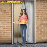 11398BK Szúnyogháló függöny ajtóra, mágneses 100cmx210cm fekete