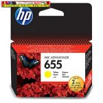 HP 655 CZ112AE No.655 Yellow eredeti tintapatron DJ Ink Adv. 3525 5525 4615 4625 (600 old.)CZ112AE