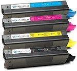 Oki C5100n,C5200,C5300,C5400  color toner utángyártott 5000old/szín