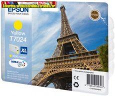 Epson T70244010 Yellow tintapatron 2K C13T70244010 (Eredeti)