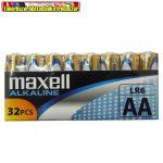 Maxell AA LR6 Alkaline elem 32db/cs, db-ár