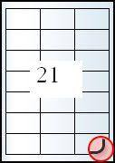 Rayfilm Univerzális címke (etikett) 63,5 x 38,1mm  21címke/lap 100lap/dob (R0ECO 0410A)