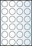 Rayfilm Univerzális címke (etikett) körcímke 40 mm(r) 24címke/lap 20lap/dob (R0100 4040KC)