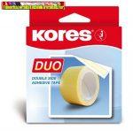 Kores Duo kétoldalas ragasztószalag, 5m x 30mm (55530)