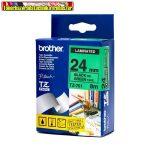 Brother TZ szalagok, TZ-751 zöld/fekete 24mm (TZe-751)